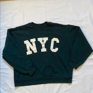Wild Fable Forrest Green Crop Crew Neck